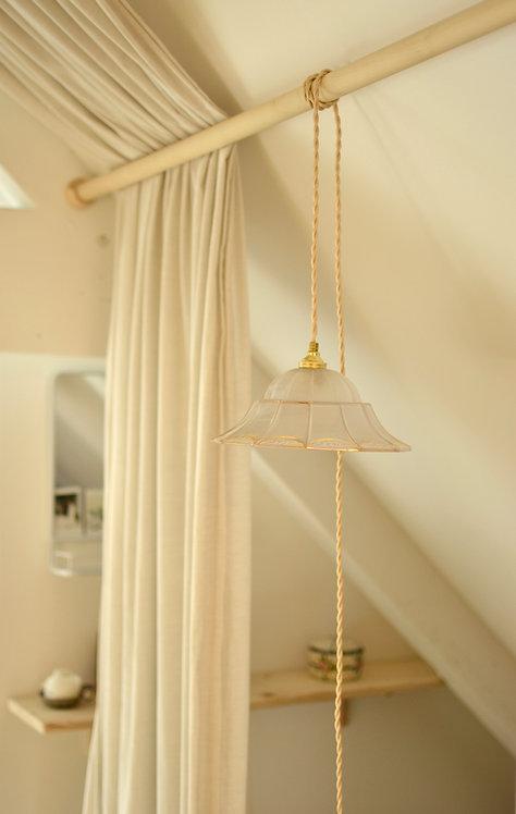 Lampe verrerie à facettes