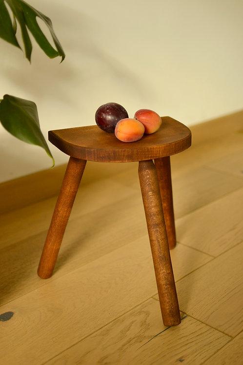 "Tabouret tripode ""Prune abricot"""