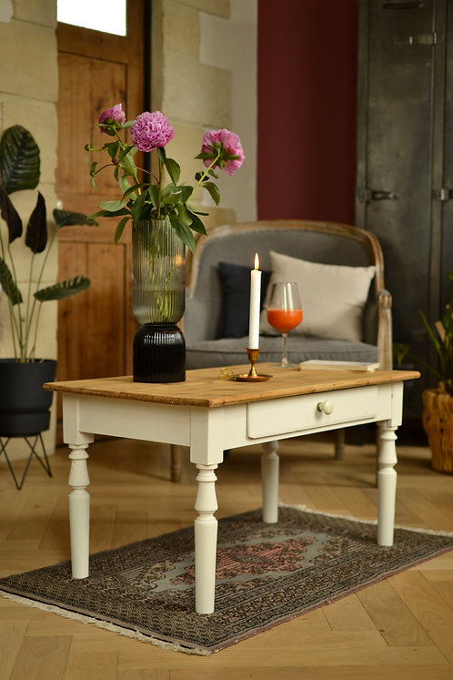 Table basse campagne chic