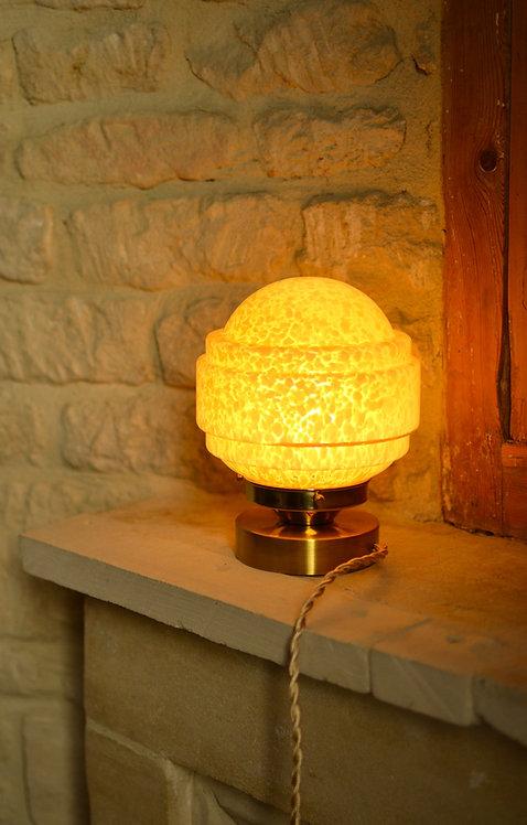 Lampe en verre de Clichy