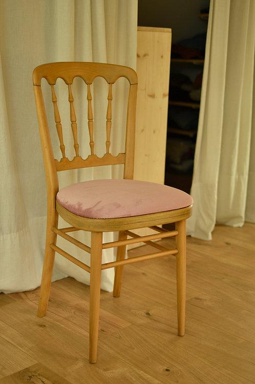 Chaise Napoléon rose
