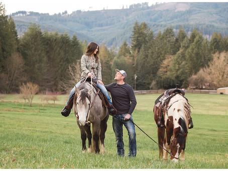 Portland Wedding Photographer | Ashley and Justin, an Engagement on the Farm