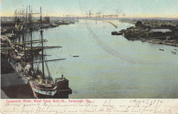 West from Bull St. Savannah River