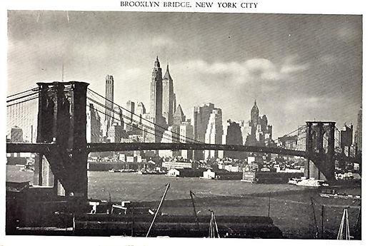1940s Brooklyn Bridge Postcard