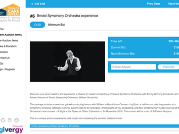 Bristol Symphony Experience for St Peter's Hospice Room to Care Appeal