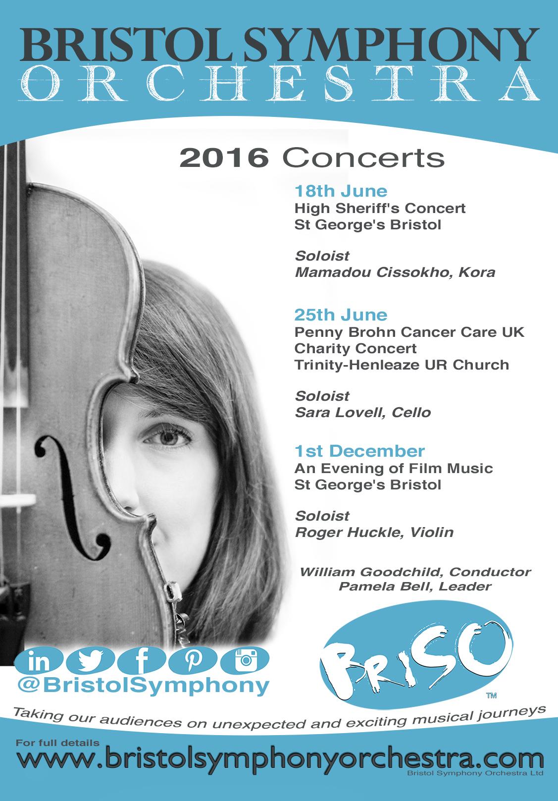 Bristol Symphony Concert Poster