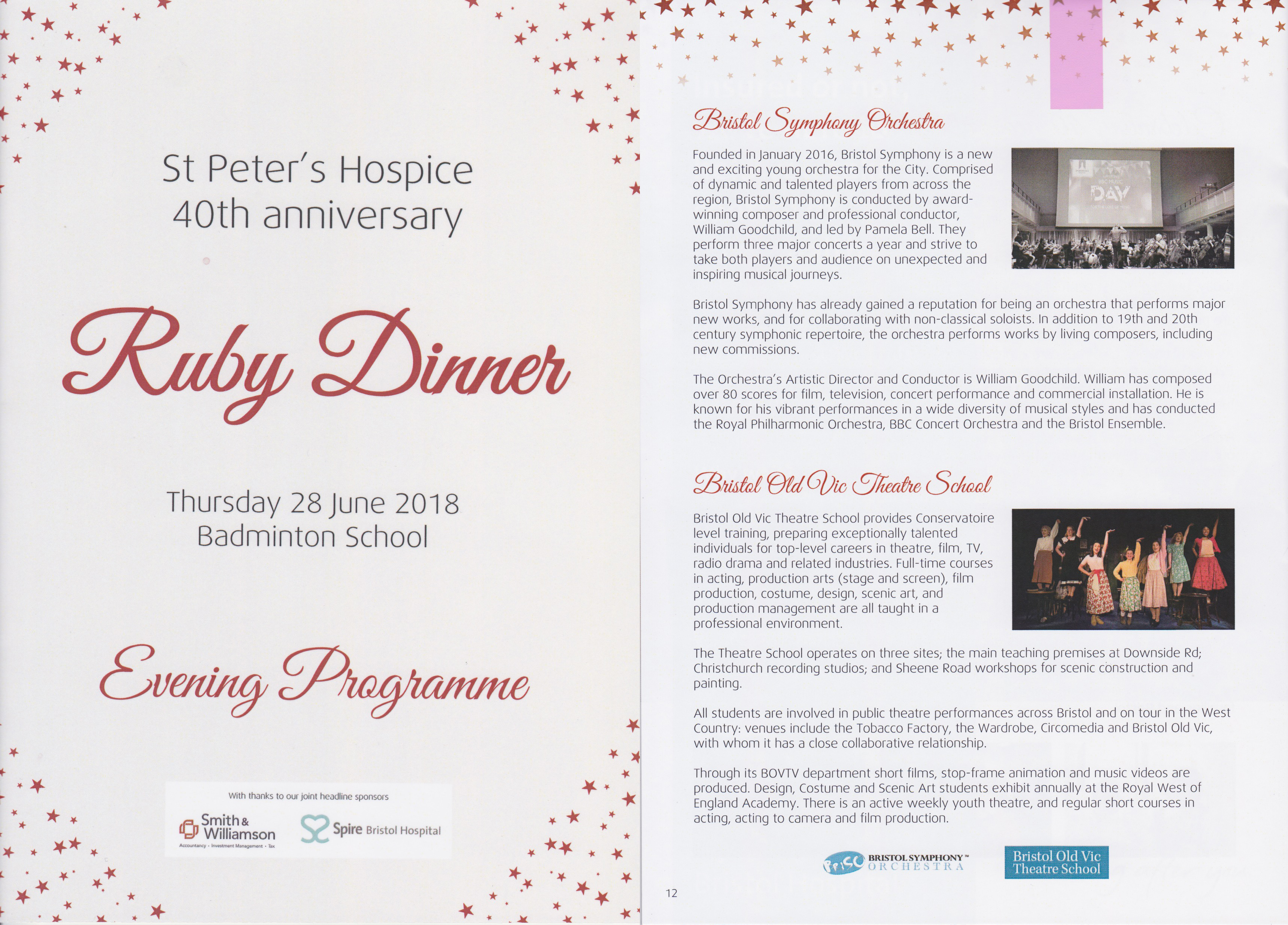 St Peter's Hospice Ruby Dinner