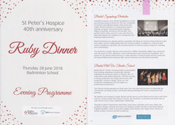 St Peter's Hospice Ruby Dinner
