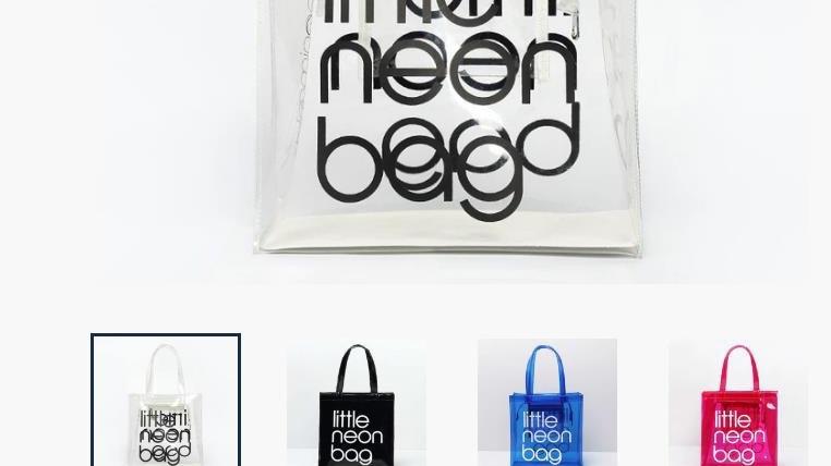 Waterproof transparent shopping bag