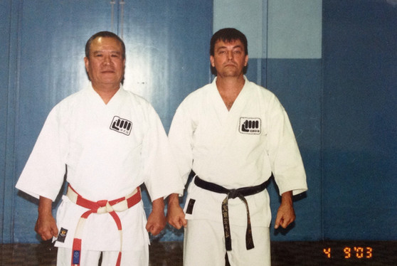Sensei geoff Waye and Kancho Iba 2003