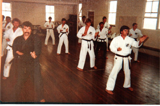 1983 Training Camp for black belts, geoff Waye 2nd row 2nd from back