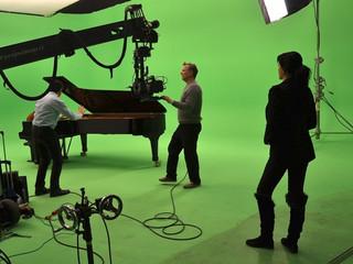 """Shooting of """"4014"""" in studio (Copenhagen, Denmark)"""