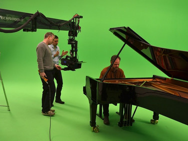 "Shooting of ""4014"" in studio (Copenhagen, Denmark)"