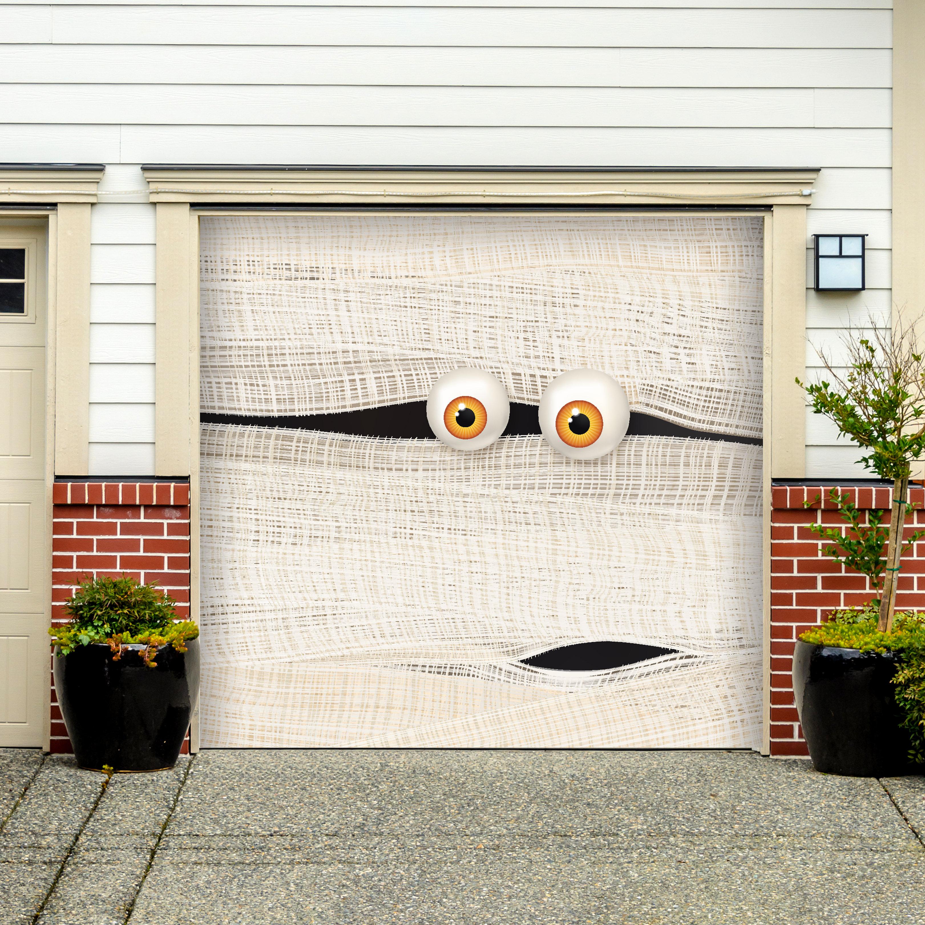 Halloween Mummy Face 1 Car Garage Door 9 W X 8 H Mydoordecor
