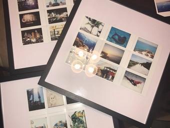 Work in Progress: Travel Map Polaroid/Instax Collage