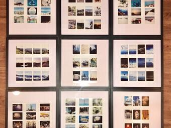 Update: Travel Map Polaroid/Instax Collage