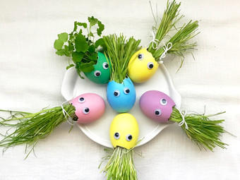 Grass Head Easter Eggs