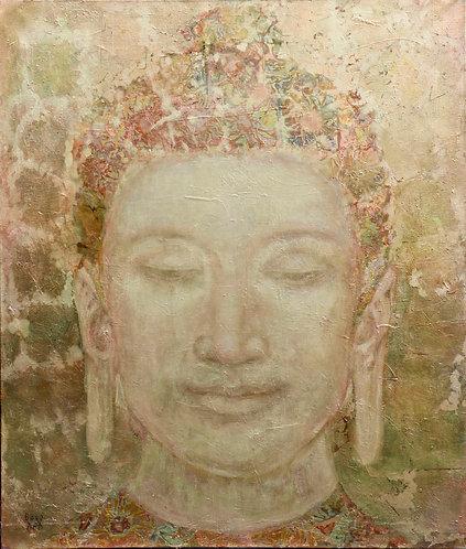 GOLDENER BUDDHA auf Artpapier