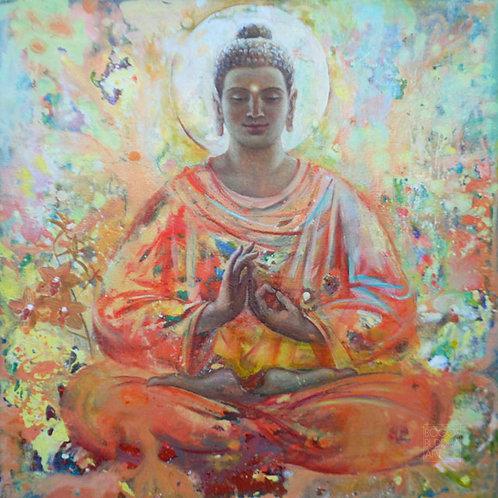 BUDDHA DES DIALOGS auf Aludibond