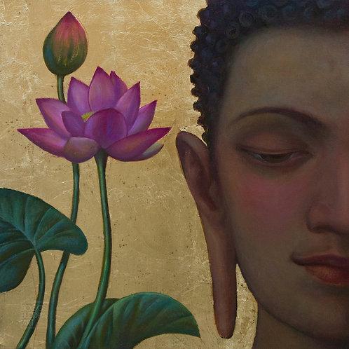 LOTUS BUDDHA auf Aludibond