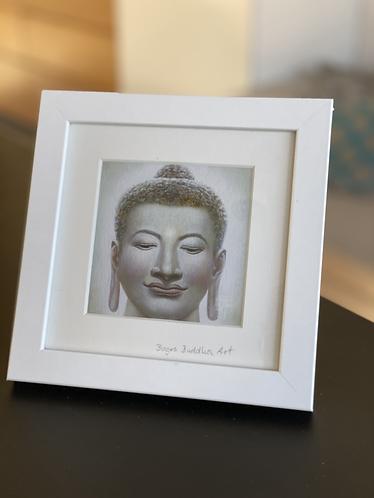 BUDDHA DES UNEINGESCHRÄNKTEN BEWUSSTSEINS auf Artpapier im Rahmen