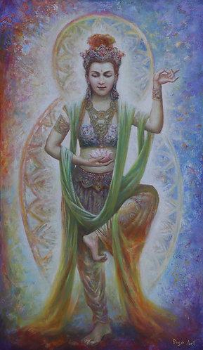 Tanzende TARA auf Acrylglas