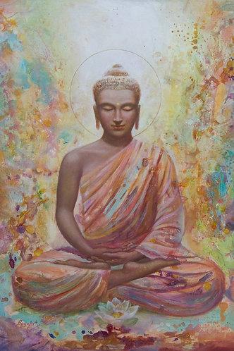 TRANSZENDENTER BUDDHA auf Leinwand
