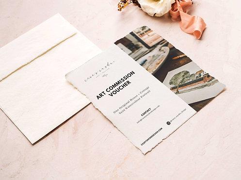 Art Commission Voucher House + Cottage Watercolour - Digital Gift Certificate