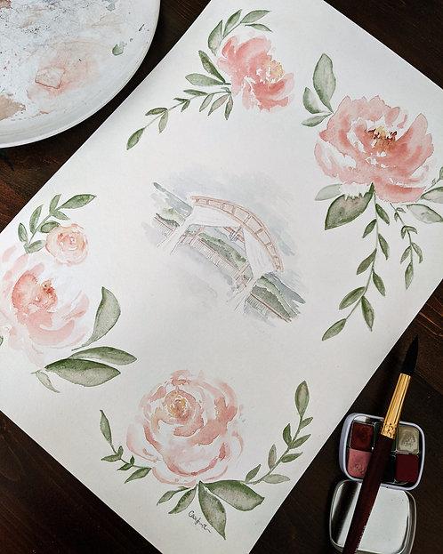 Wedding Venue Watercolour Painting