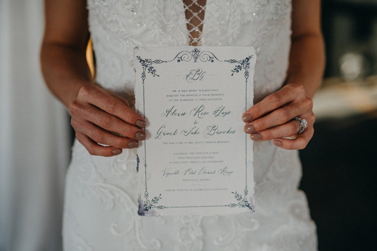 Semi Custom Fine Art Wedding Invitations - Casey Snyder Design
