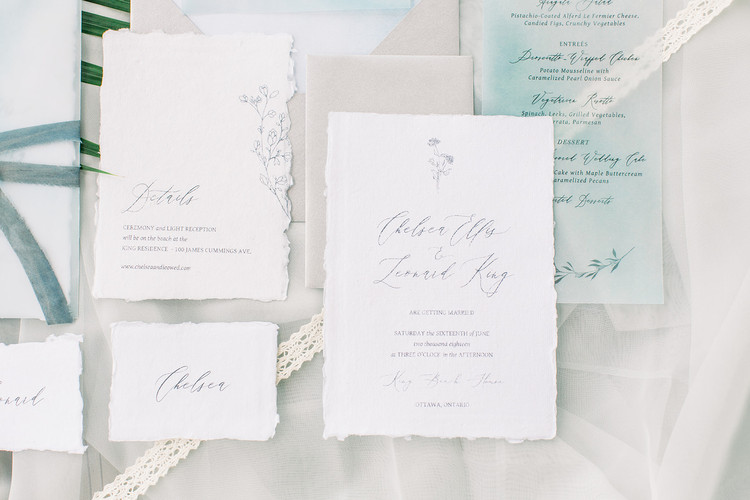 Semi Custom Fine Art Wedding Invitations - Casey Snyder Design