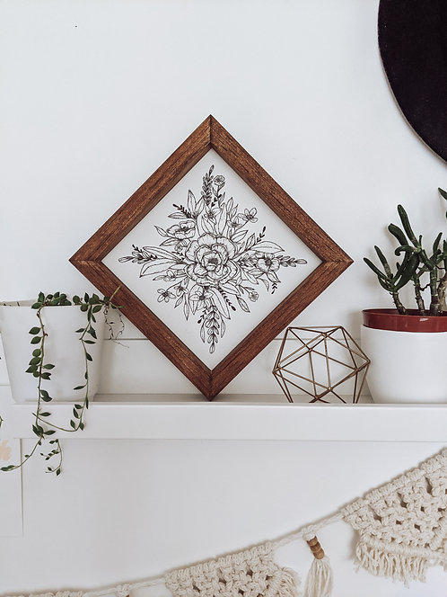 8x8 Botanical Wood Art Sign | MADE TO ORDER