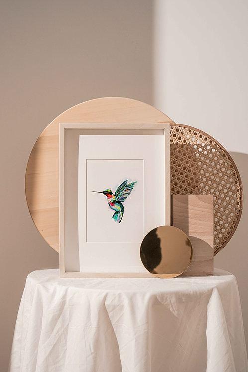 Art Print   Hummingbird Watercolour Painting