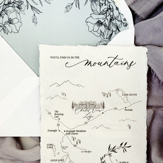 Custom Wedding Map and Venue Illustration