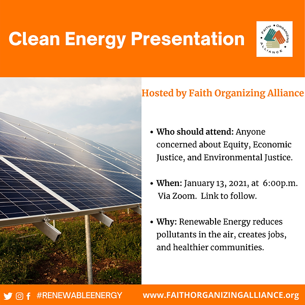 Save the Date Clean Energy Presentation