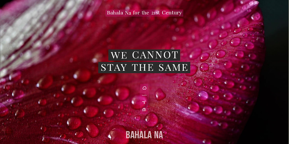 Bahala na: A Conscious Living Tradition For Challenging Times