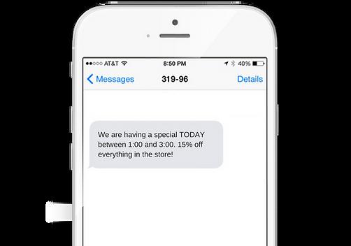 Broadcast Offers Via Text - The Mandalay Group, Inc.