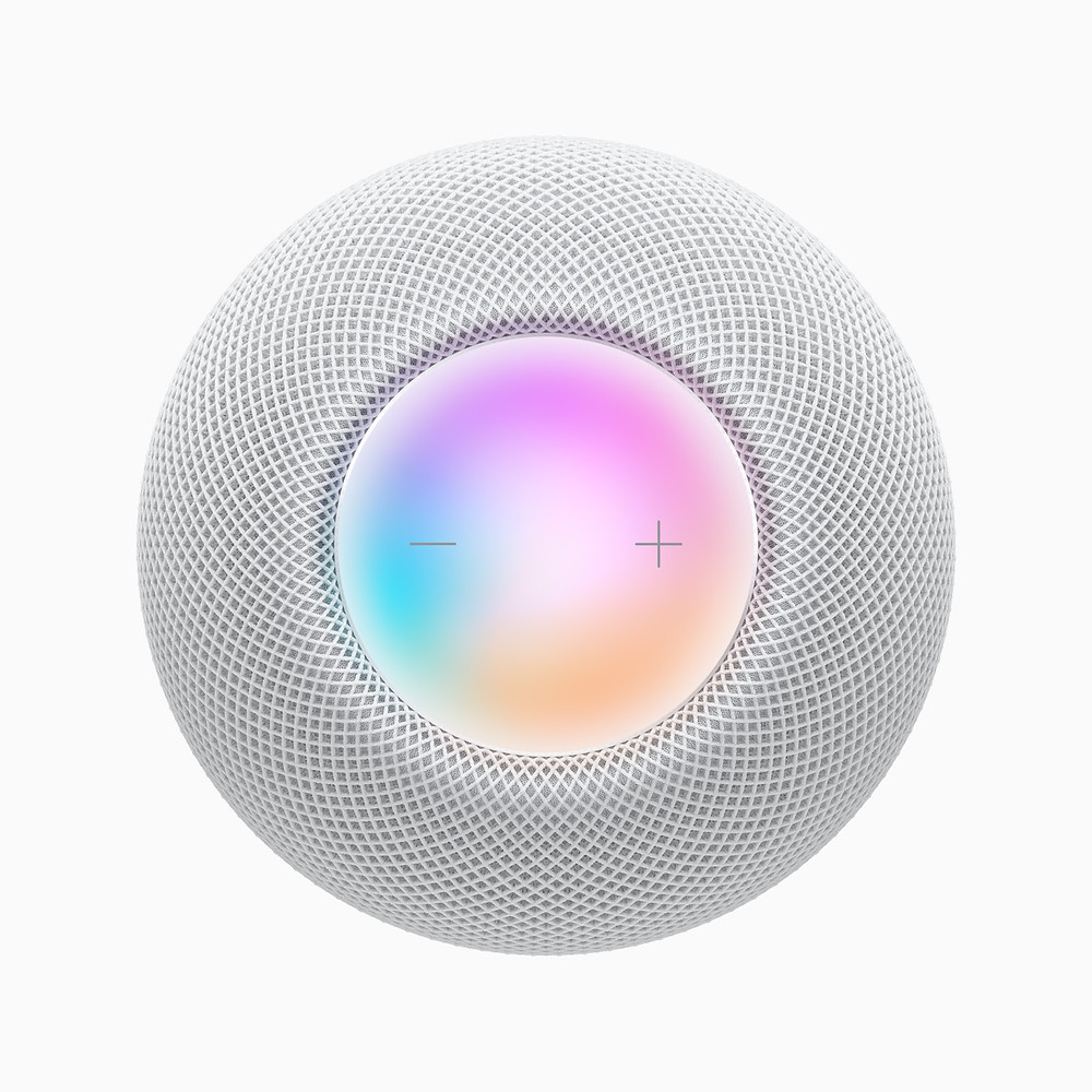 Apple HomePod mini, Top View - Luminous LED panel