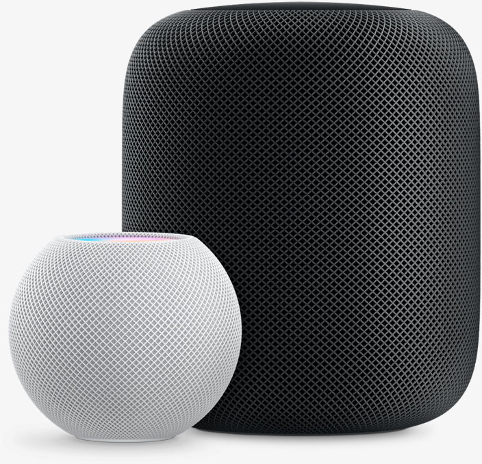 Apple's Home Pod mini and Original HomePod - Available in White and Space Gray