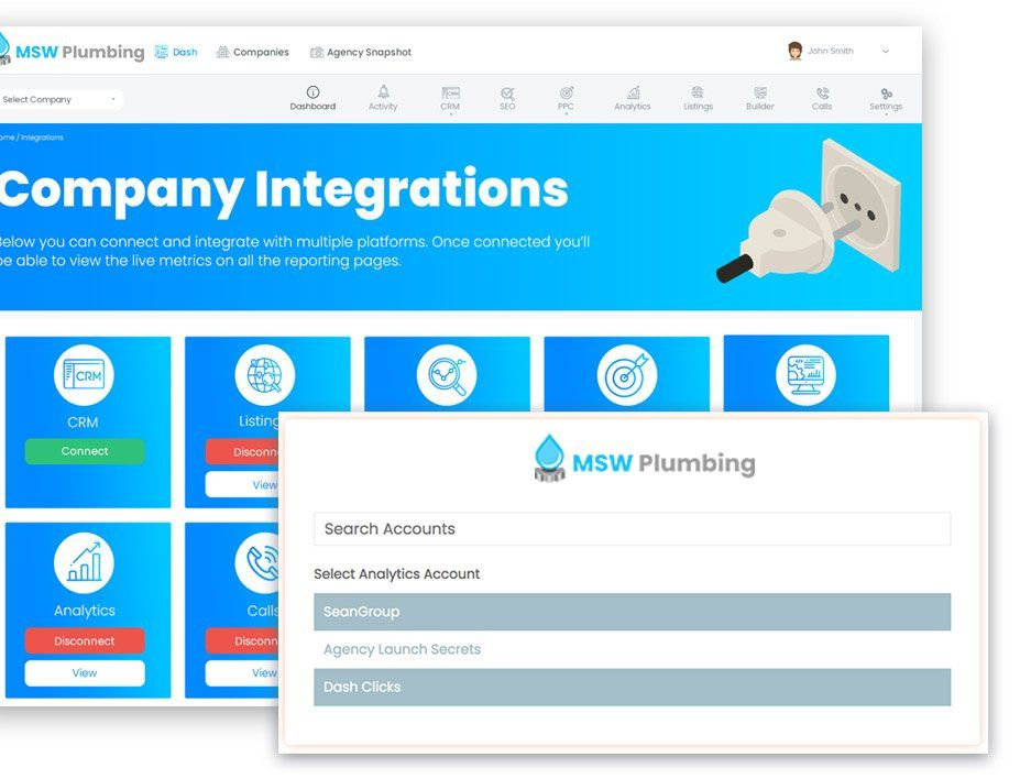 Company Integrations - Analytics, CRM, Form Data, Geo-Targeting - The Mandalay Group, Inc.