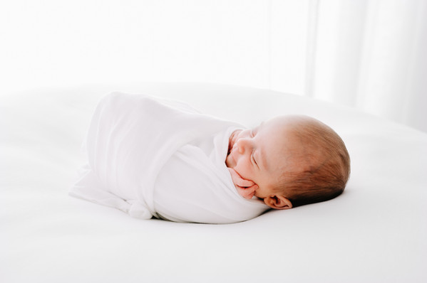 Pure white newborn