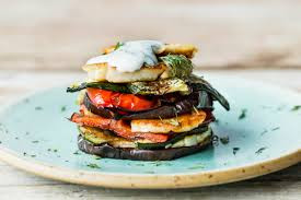 Grilled Haloumi and Veg stack