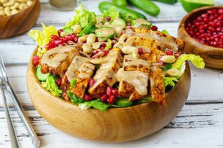 Quick & Easy Chicken Satay Salad