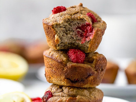 Lemon Raspberry Protein Muffins