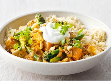Vegetarian Tofu and Cashew Curry