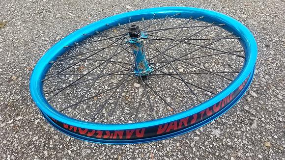 "Kink Viridian X Alienation BMX Front Wheel - LE Splash Colorway 20"""