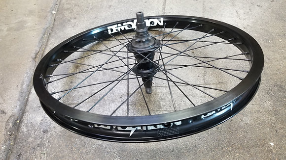Demolition Whistler BMX Cassette Wheel - Black (LHD)