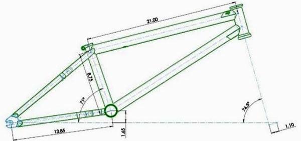BMX Frame Dimensions