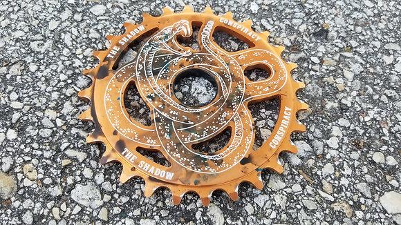 Shadow Serpent BMX Sprocket - LE Copper Tie-Dye 28T