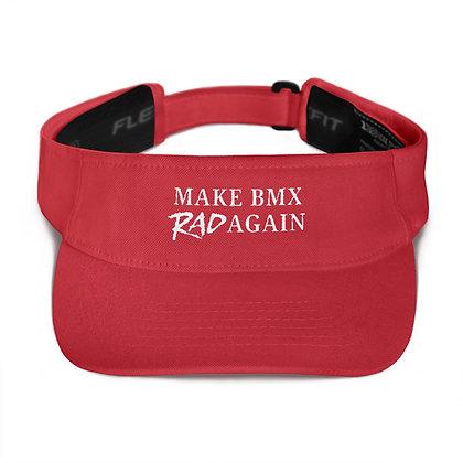 """""""Make BMX Rad Again"""" Adjustable Visor Hat"""